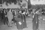 Graduation procession. Theodore McKeldin second from left. Paul Henderson, June 1954. MdHS, HEN.00.B2-253.